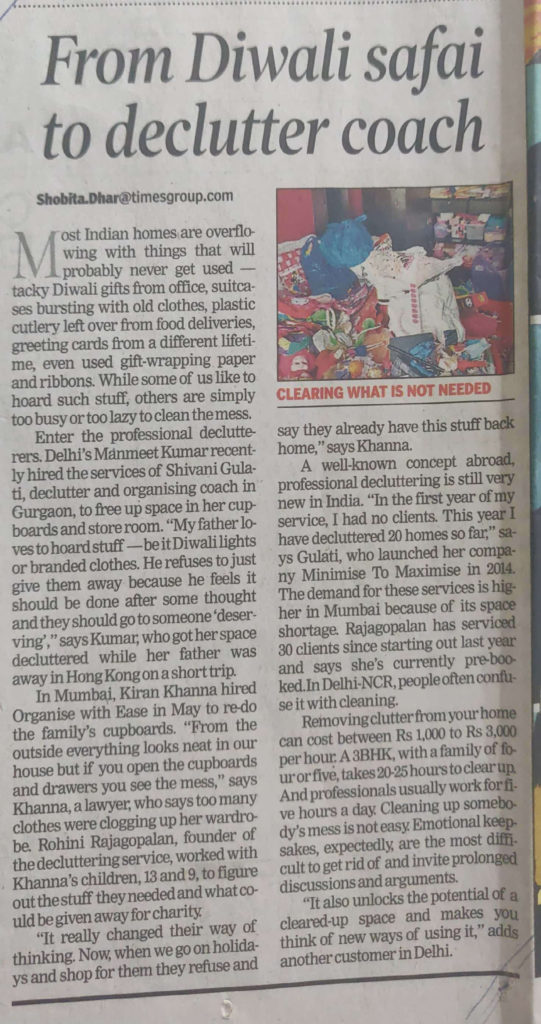 From Diwali safai to de-clutter coach