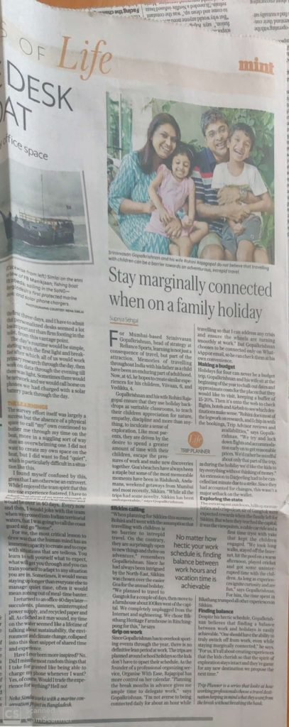 Stay marginally connected when on a holiday