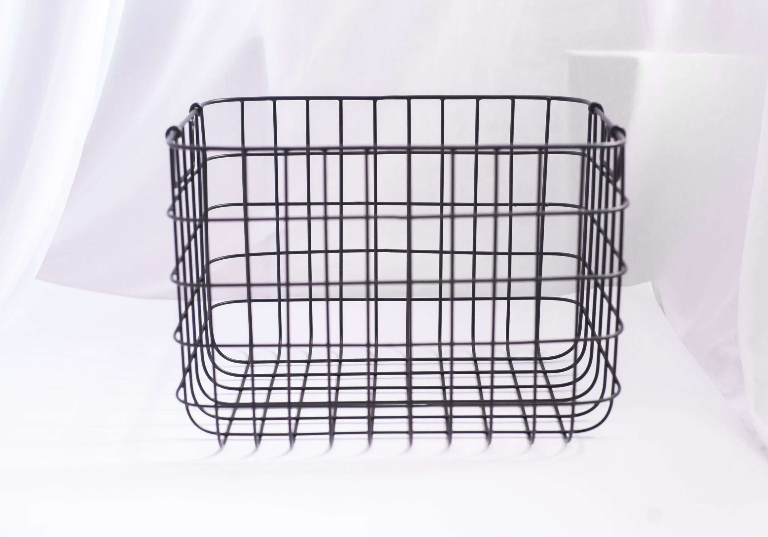 Black Metal Wire Basket - Large