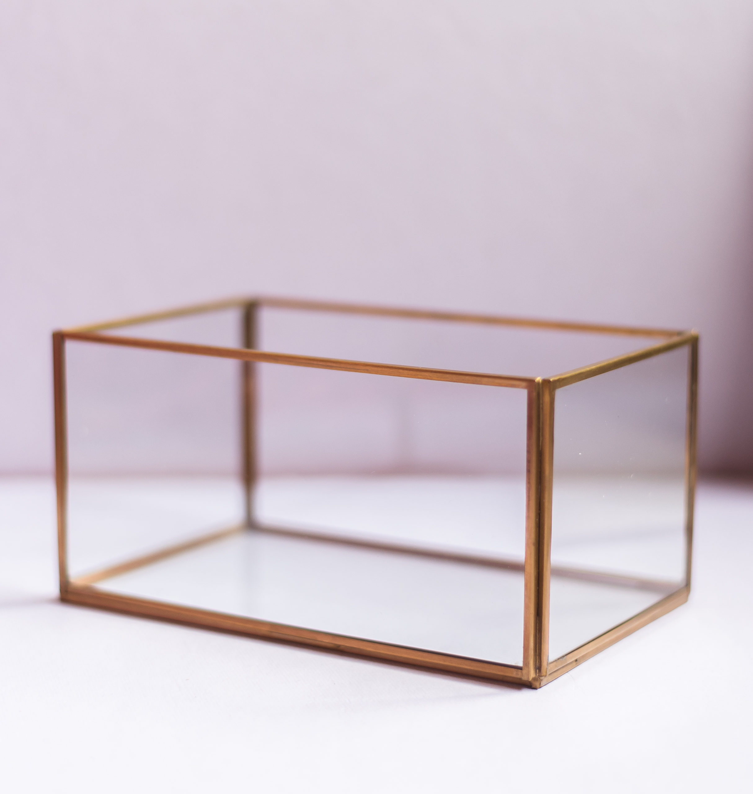 Tall Rectangle Glass Organiser