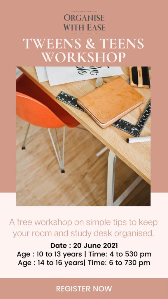Tweens and Teens Workshop
