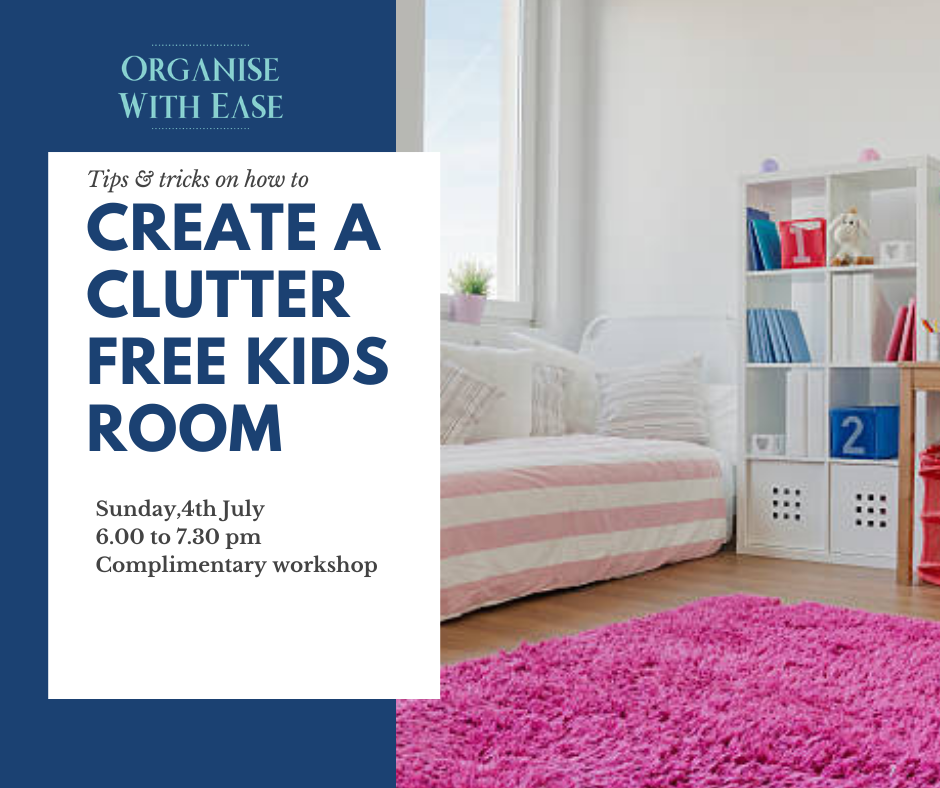 Workshop - Tips & Tricks on how to create a clutter-free kids room